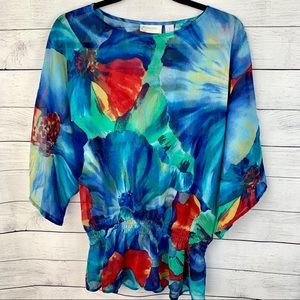 Chicos Floral Tunic Size 1